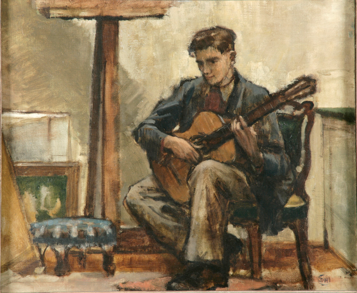 Julian Bream painting